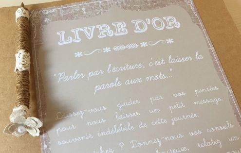 Idées de livre d'or pour mariage par Homemade for Love, wedding planner et designer à Caen, Normandie