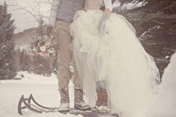 mariage d'hiver, se marier en hiver, conseils, jolies attentions pour un mariage hivernal