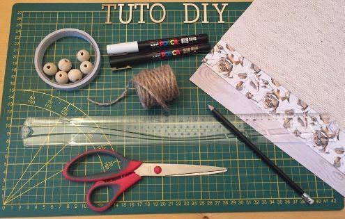 Tutoriel do it yourself conçu par Homemade for Love pour réaliser une jolie guirlande de fanions