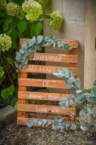 panneau de bienvenue, mariage en Normandie, saison 2018, décoration de mariage, Homemade for Love