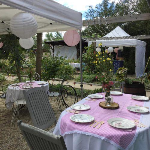 décoration de tables, mariage bohème en Normandie