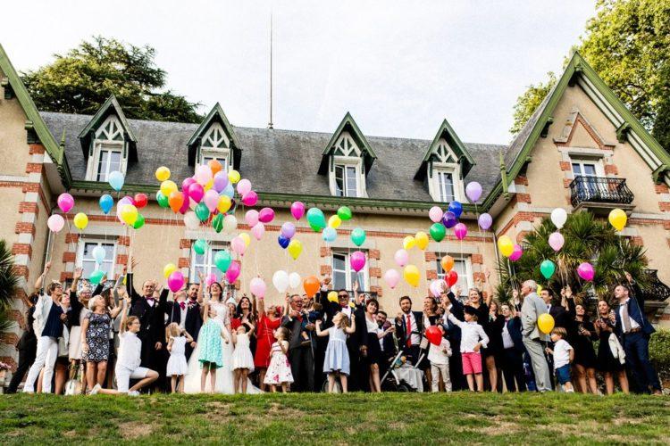 lâcher de ballons haut en couleurs, mariage manche, saison 2018, coordination jour J