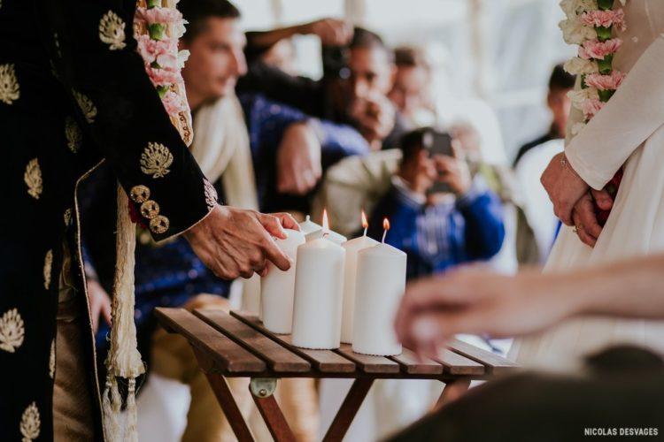 cérémonie d'engagement, rituel de cérémonie, couple, mariage Normandie, mariage Manche