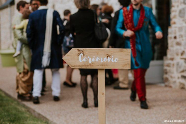 panneau directionnel mariage, signalétique, cérémonie laïque, panneau homemade
