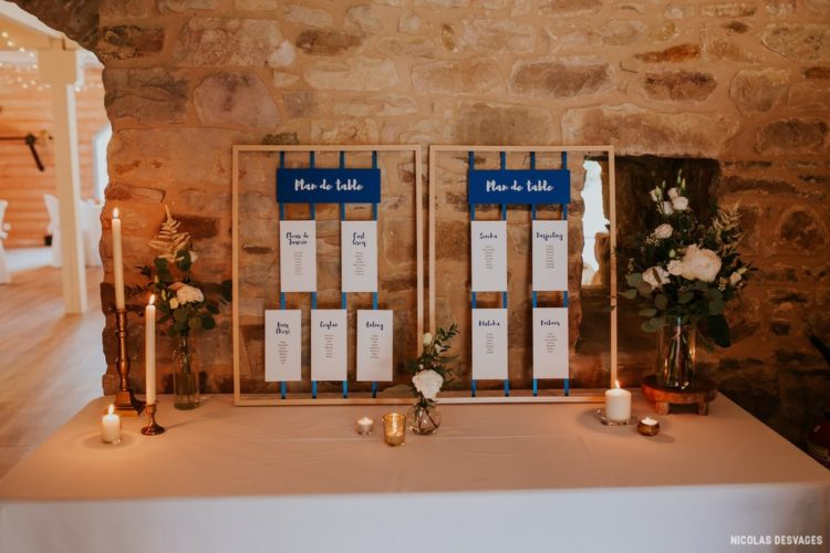 Plan de table, décoration de mariage au domaine du Manoir de la Cour par Homemade for Love