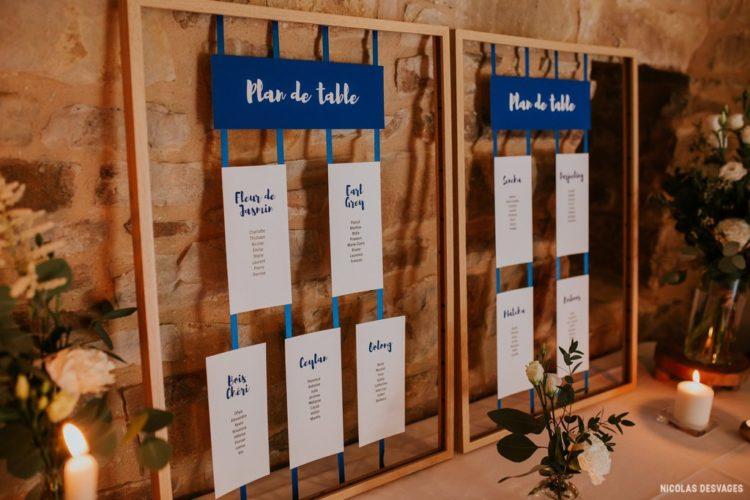 Plan de table, domaine du Manoir de la Cour, mariage Manche, Homemade for Love