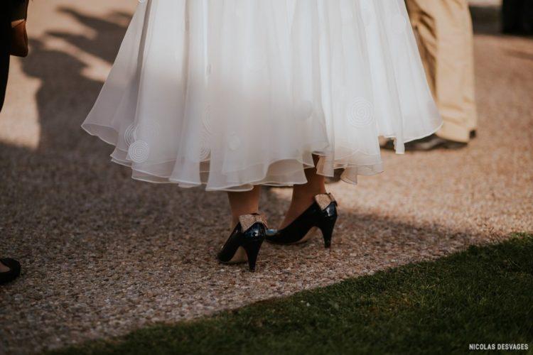 Mariée au domaine du Manoir de la Cour dans la Manche en Normandie
