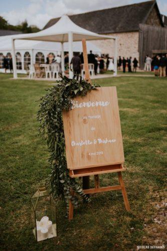 souhaiter la bienvenue à ses invités, mariage manche, décoration, Homemade for Love