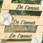 signalétique mariage, panneau mariage, citation amour, homemade