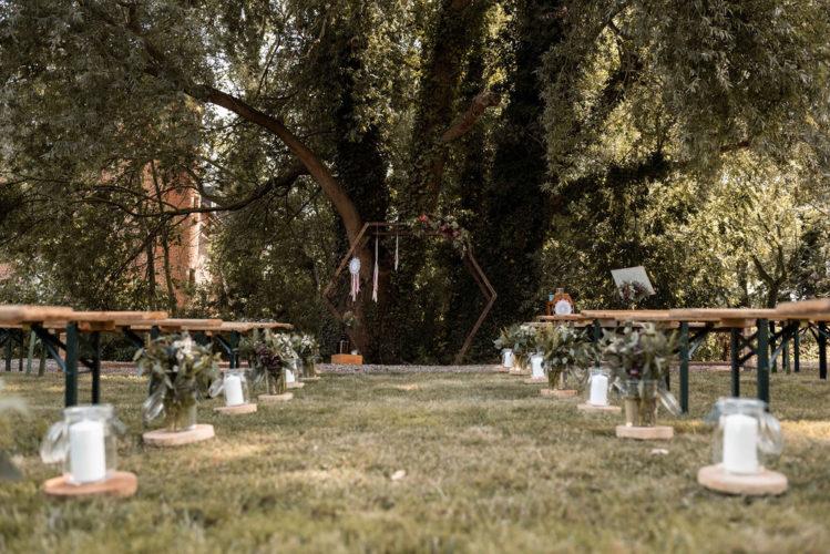 décoration cérémonie laïque, cérémonie d'engagement, arche, attrape-rêves