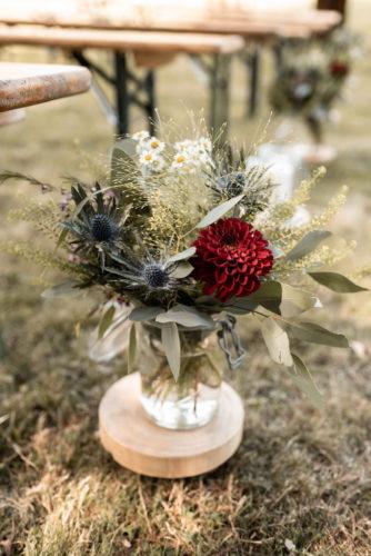 joli bouquet, cérémonie laïque de mariage, mariage bohème, mariage dans le Nord-Pas-de-Calais