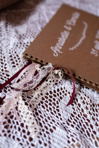 rubans, dentelle, carnet, Photobooth, coin photos pour joli jour