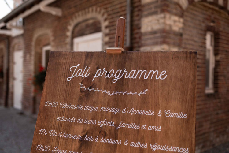 programme mariage, joli jour, planning mariage