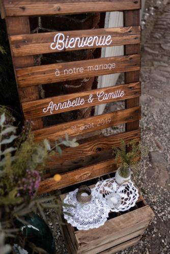coin accueil, souhaiter la bienvenue à ses invités de mariage