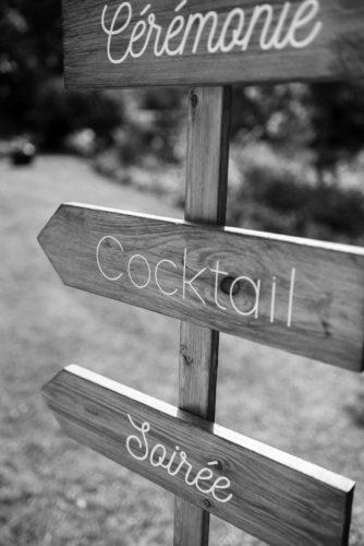 panneaux mariage, guider ses invités, étapes de la journée