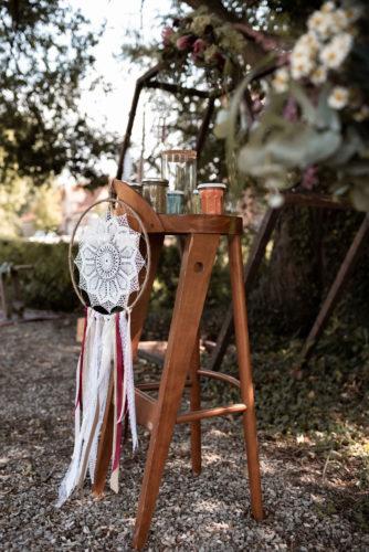 décoration cérémonie laïque, rituel du sable, mariage bohème, mariage boho, attrape-rêves