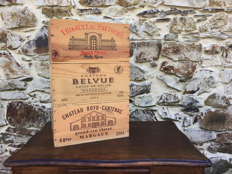 Caisse De Pomme Vide caisse de vin en bois