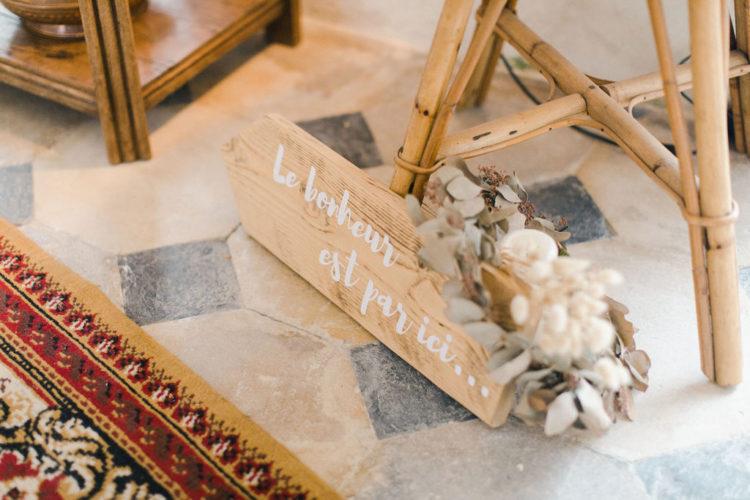 décoration de mariage, décoration vintage, rotin, tapis
