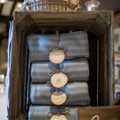 plaid personnalisé, mouchoirs pour les larmes de joie, baguettes de cérémonie laïque, Homemade for Love