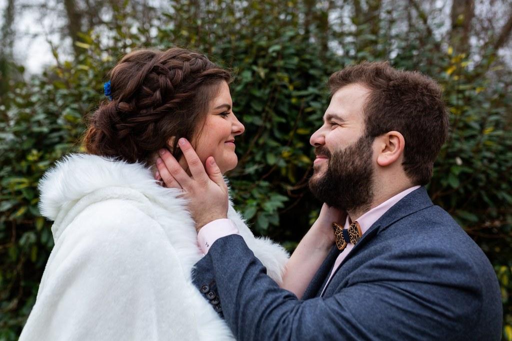 séance couple mariés, mariage d'hiver en Normandie, Audrey Guyon