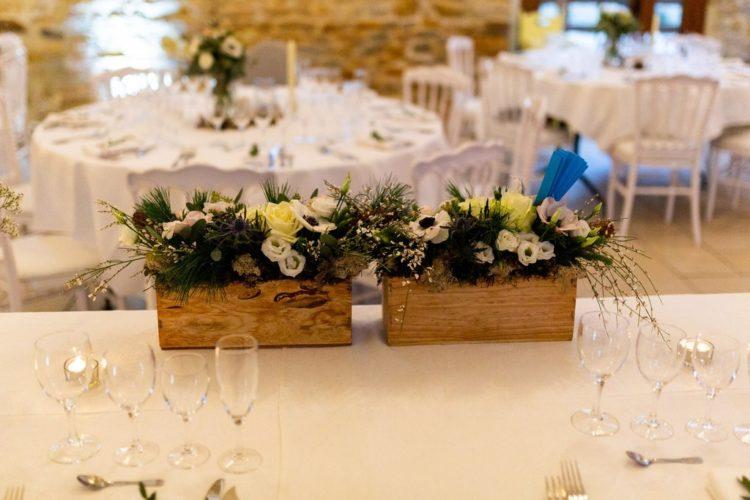 décoration table d'honneur, mariage hivernal au domaine de la Pommeraye