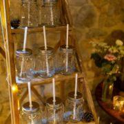 scénographie pour bar à chocolat chaud d'un mariage d'hiver par Homemade for Love