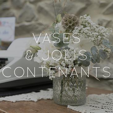 vases et jolis contenants mariage