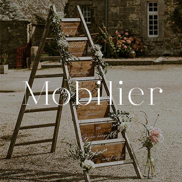 Location de décoration mariage, catégorie mobilier